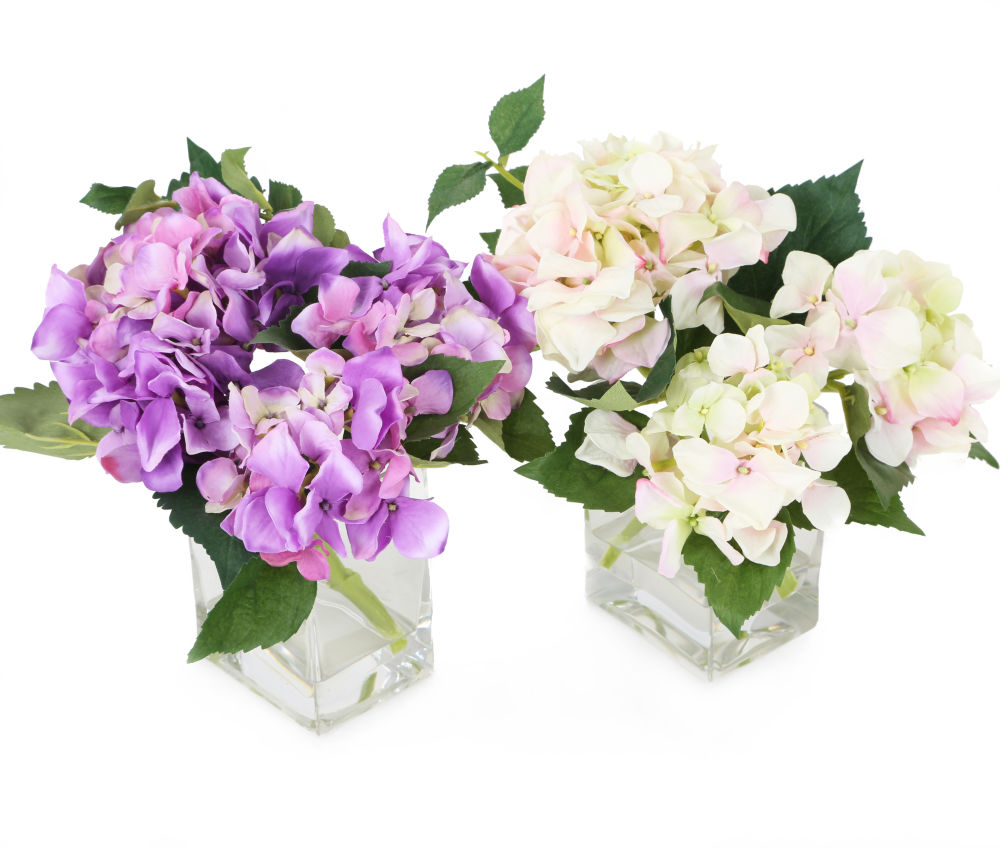 artificial 18cm hydrangea arrangement artplants. Black Bedroom Furniture Sets. Home Design Ideas