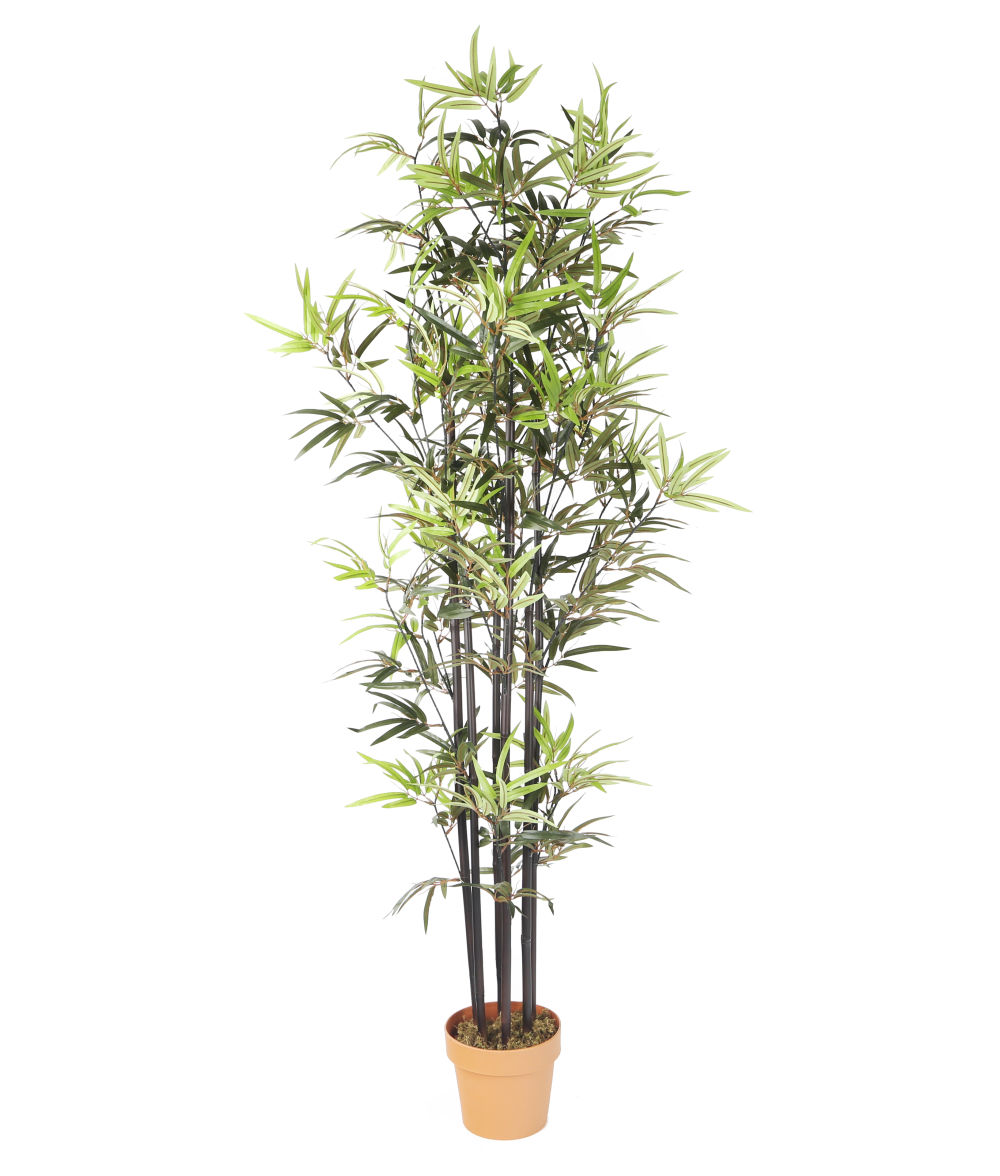 Artificial Bamboo Stalks ~ Artificial ft ″ dark brown bamboo tree artplants