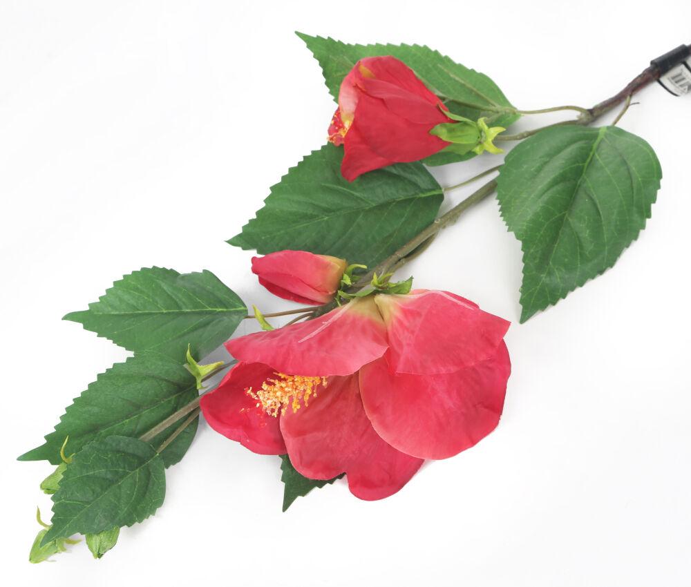 Artificial 92cm Single Stem Pink Hibiscus Artifical Plant Hire